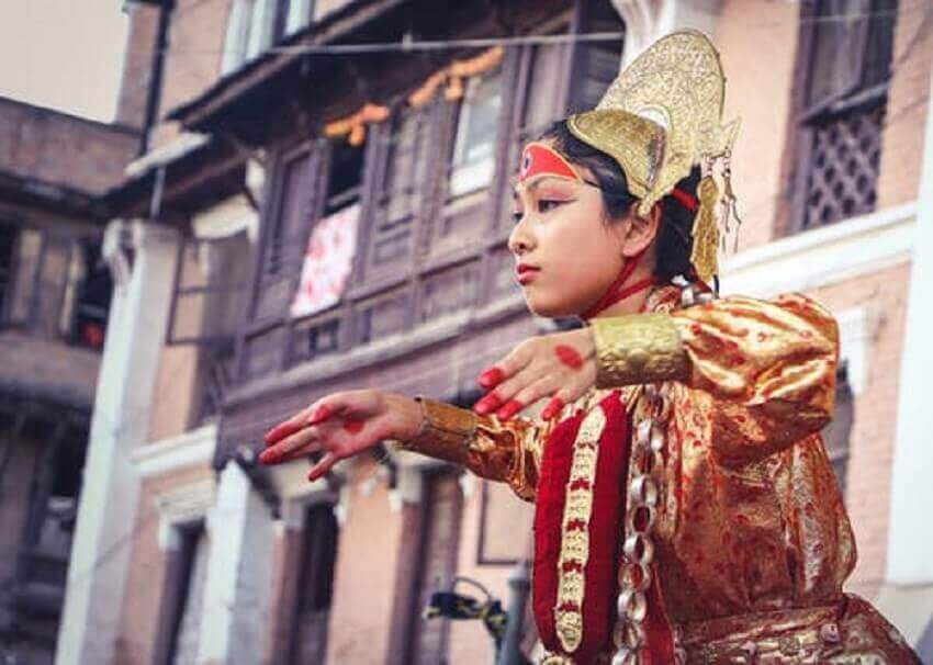 Girl-Dancing-Nepal-cheap-travel-places
